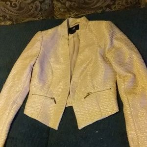 H and M jacket. Peach. Poly and acrylic. Size 4